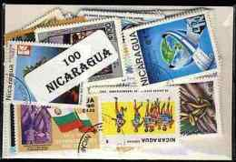 NICARAGUA Lot De 100 Timbres Tous Differents Neufs Et Oblitérés. Satisfaction Assurée - Nicaragua