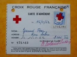 54 LONGWY Carte CROIX - ROUGE FRANCAISE 1961 62,timbre - Cartes