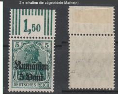 Militärverwaltung In Rumänien,8b,OR W 3.7.3,gep.Marke Xx,Falz Im OR (3571) - Besetzungen 1914-18