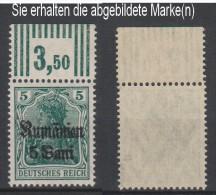 Militärverwaltung In Rumänien,8b,OR W 3.7.3,gep, Xx (3571) - Besetzungen 1914-18