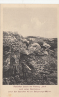 Carte Allemande- Panzerfort Loucin Der Festung Lüttich Nach Seiner Beschiessung 42cm Belagerungs-Mörser (2scans) - Guerre 1914-18