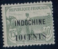 1919.  Timbres De 1917 . Série ORPHELINS De 1917 Surchargés. Lot 1.2013 - Indochina (1889-1945)