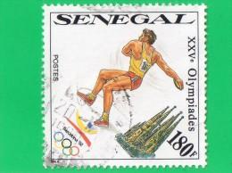 "SENEGAL   """" 180  F. """"  XXV éme OLYMPIADES ,, BARCELONE 92   ( EDILA  ),, TBE - Senegal (1960-...)"