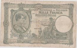 BELGIQUE - 1.000 Francs / 200 Belgas - Du 28 04 1932 - Pick 104 - Très Grand Format - [ 2] 1831-... : Belgian Kingdom