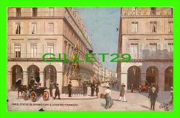 PARIS(75) - STATUE DE JEANNE D'ARC & LA RUE DES PYRAMIDES - TRÈS ANIMÉE - OILETTE - CIRCULÉE EN 1923 - - Other Monuments