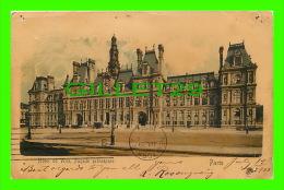 PARIS(75) - HÔTEL DE VILLE, FAÇADE PRINCIPALE - CIRCULÉE EN 1900 - DOS NON DIVISÉ - - Other Monuments