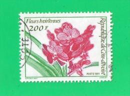"""COTE D'IVOIRE  """""""" 200 F. """"""""  FLEURS IVOIRIENNES ,, 1991,, TBE - Ivory Coast (1960-...)"""