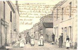 44 - Loire-Atlantique - Vallet. Rue De La Gare, Cachet Ambulant De Vallet à Pallet, Service Des Prisonniers De Guerre - France