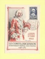 Journee De Timbre - Paris - 14 Mars 1953 - Maximumkarten