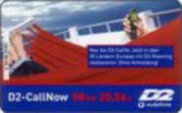 Germany - DM 50 Prepaidcard - 2001-07-01 - D2-CallNow - D2 Vodafone - In Der Hängematt - Due Date 07.03 -V 34.04 - Deutschland