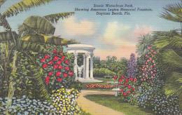 American Legion Memorial Fountain Waterfront Park Daytona Beach Florida Curteich - War Memorials