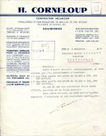 INSTALATIONS & TRANSFORMATIONS DE MOULINS,HUILERIES & SCIERIES.H.CORNELOUP CONSTRUCTEUR 40 RUE DE BOURGOGNE LYON-VAISE. - France