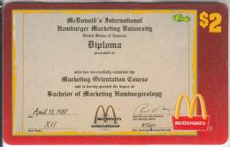 "USA - McDonald""s(44/50), Sprint Promotion Prepaid Card, Tirage 6100, 05/96, Mint - United States"