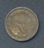 505- Italie Napoléon Bonaparte Pièce De 10c 1811 M - Temporary Coins