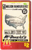 "USA - McDonald""s(13/50), Sprint Promotion Prepaid Card, Tirage 6100, 05/96, Mint - United States"