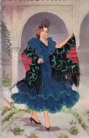 Femme Espagnole Brodée - Borduurwerk