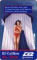 Germany - DM 50 Prepaidcard - 2001-07-01 - D2-CallNow - D2 Vodafone - Frau Vor Einem Haus - Due Date 07.03 - V 34.03 - Deutschland