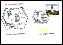 28209) BRD - Michel 3011 - FDC - ESST 25761 BÜSUM - 100 Jahre Leuchtturm Büsum - Lighthouses