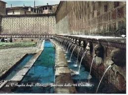 L'AQUILA - FONTANA DELLE 99 CANNELLE - ACQUERELLATA - 1956 - L'Aquila