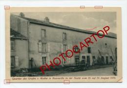 REZONVILLE-Maison Graf Moltke-1870-CARTE Imprimee Allemande-Guerre-14-18-1WK-FRANCE-57-FRANKREICH-Militaria - France