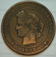 10 CENTIMES BRONZE CERES 1898 A TB+ - France