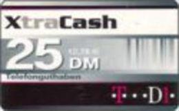 Germany - DM 25 Prepaidcard - D1 - XtraCash  -due Date 31.12.2001- X 02.01a - Deutschland