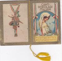 """CALENDARIETTO """"CANTI POPOLARI ITALIANI"""" 1935 -2 -0882-17538-539 - Calendriers"""