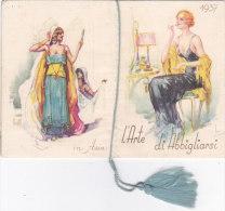 """CALENDARIETTO   """"L'ARTE DI ABBIGLIARSI"""" MODA SEDUZIONE NEL MONDO 1937COLLI FIORITI MILANO -2 -0882-17544-545 - Calendars"""