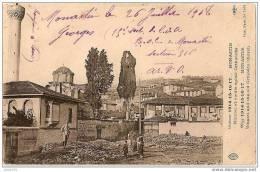 MONASTIR ..-- SERBIE ..-- Minaret Et Vieille église Orthodoxe . 1918 Vers France . Voir Texte Militaire Verso . - Serbie