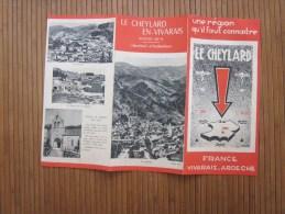 Dépliant Publicitaire Guide Touristique Réseau Le Cheylard En Vivarais > Années 50 Syndicat D'initiative (gribouillag - Europe