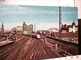 ENGLAND  NEW CASTLE UPON TYNE RAILWAY STAZIONE FERROVIARIA CON TRENO TRAIN  N1975  EG528 - Newcastle-upon-Tyne