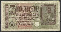 Deutschland Occupation Bank Note 20 Reichsmark Serie F - [ 9] Occupied German Territories