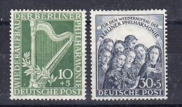 BERLIN 1950..YVERT Nº 58/59.FILARMONICA DE BERLIN. NUEVO CON CHARNELA* SES 353 - [5] Berlín