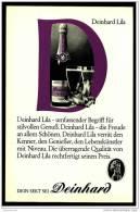 Reklame Werbeanzeige  -  Deinhard Lila  ,  Die Freude An Allem Schönen  ,  Von 1968 - Andere Sammlungen