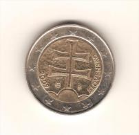 SLOVAQUIE 2009 / Pièce De 2 Euros De Circulation / 1ère Année D´émission / Scan Non Contractuel : 2 Exemplaires - Slowakei