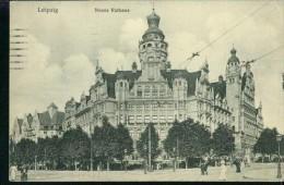 Leipzig Neues Rathaus Personen Gas-Laterne 25.8.1915 - Leipzig