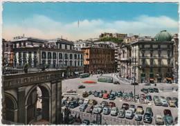 Napoli: MORETTI 1100 COUPÉ,LANCIA APRILIA & ARDEA,FIAT 500C GIARDINIERA,508 TAXI -Piazza T & T - Auto/Car/Voiture-Italia - Turismo