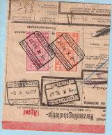 Spoorwegfragment, Afst. Brussel K. Eiland Naar GREMBERGEN / MOERZEKE 09/10/1937 Via DENDERMONDE / TERMONDE - 1923-1941