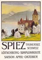 REPRO  PLAKAT KARTE  D´AFFICHE  SPIEZ - BE Berne
