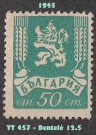 1945 - Europe - Bulgarie - 50 S. Vert Bleu - - Used Stamps