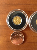 Iles Cook  2011 Tangaroa Polynesie Maoris  Or Gold 0.999 Poids 0.5g Proof - Cook