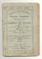Carnet De Voyage De L'agence Hanciau-Rooselaers De Bruxelles 1914 - Voyage De Liège Vers L'Italie (b126) à Lire - Titres De Transport