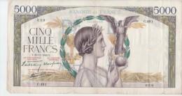 5000F VICTOIRE.26.12.1940.F  N°46 - 5 000 F 1934-1944 ''Victoire''