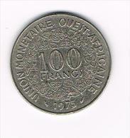 - WEST AFRICAN STATES  100 FRANCS  1975 - Centrafricaine (République)