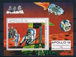 YAR Yemen Block Apollo 12 Raumfahrt Space Weltraum Launcing 14. November 1969 Moonlandingansehen - Jemen