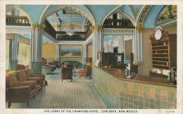 ( CPA ÉTATS UNIS )  CARLSBAD  /  The Lobby Of The Crawford Hôtel  - - Etats-Unis