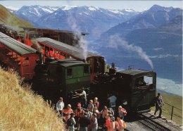 NG Mountain Railway Postcard Swiss Brienz Rothorn Bahn Switzerland Steam Cog 4 6 - Trains