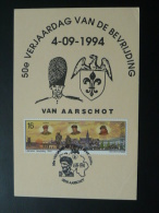 Carte Maximum  (maximum Card) Libération De Bevrijding Belgique - 2. Weltkrieg