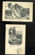 R BTPYS MADAGASCAR, Betsiléo, Lot De 2 Cartes Marchand De Charbon Et Salon De Coiffure Pour Dames. - Madagascar