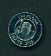 ICELAND - 2005 1k Circ. - Iceland